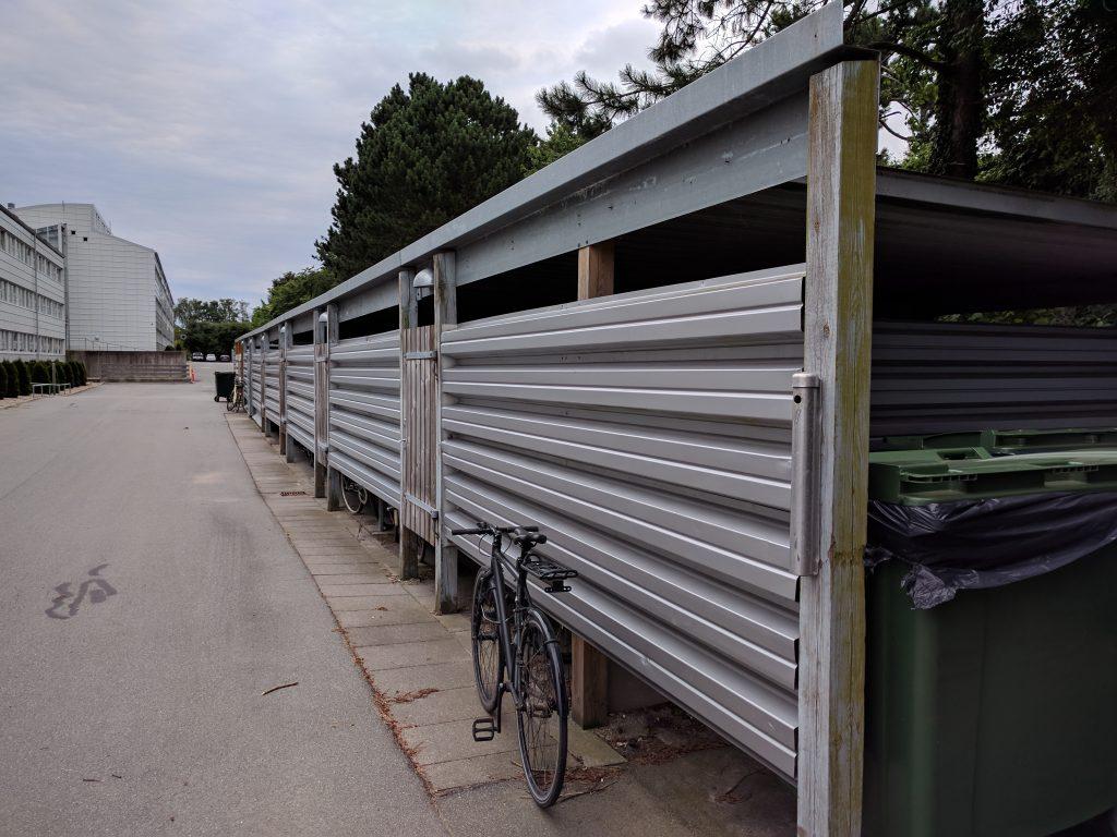 Cykelskur hvor du kan stille din cykel